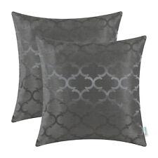 2pcs CaliTime Grey Cushion Covers Pillow Shell Case Geometric Home Decor 45x45cm