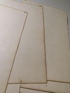 """1853 Vintage Blank Ledger Paper Supersize 15""""x10"""" Art Repurpose Restoration"""