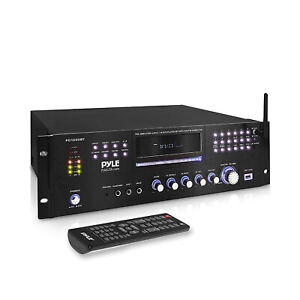 Pyle PD1000BT 4 Channel Home Theater Preamplifier Stereo Sound System (2 Pack)