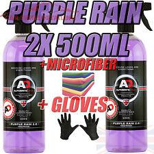 Purple Rain 2x500ml Autobrite Direct, Alloy Wheel Cleaner Iron Remover +GLOVE+MF