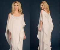 Plus Size Mother of the Bride Dress Elegant Floor-Length Chiffon Dresses custom