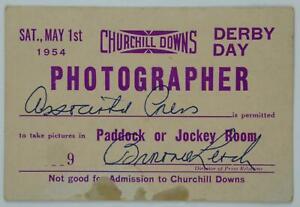 1954 Churchill Downs Kentucky Derby Day 3x4.5 Photographer Pass Associated Press
