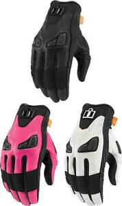 Icon Women's Automag 2 Gloves - Touchscreen Motorcycle Street Riding Leather