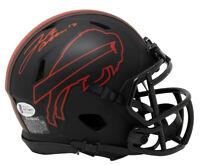 Josh Allen Signed Buffalo Bills Mini Eclipse Speed Replica Helmet BAS ITP