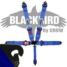 Crow Black Bird Quick Release Blue Seat Belt 3 Inch Lap 3 Inch Shoulders 5 Pt