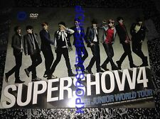 Super Junior World Tour Super Show 4 2 DVD Photobook Donghae Eunhyuk Supershow