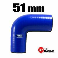 "Silicone Turbo Air Pipe 90 Degree Elbow Radiator Hose Pipe 51mm 2"" (3-ply)"