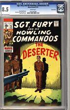 Sgt. Fury Howling Commandos 75 CGC 8.5 White Suscha News Pedigree