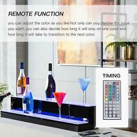 LED Liquor Bottle Display Shelf 30'' 2 Layer Illuminated Color Changing W/ RC
