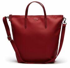LACOSTE SStrap Vertical Shopping Bag Shopper Handtasche Tasche Biking Red Rot