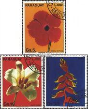 Paraguay 3664-3666 (kompl.Ausg.) gestempelt 1983 Blumen EUR 1