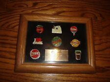 Coco Cola Limited Edition 0749/1000 Framed Brand Pins Set of 8