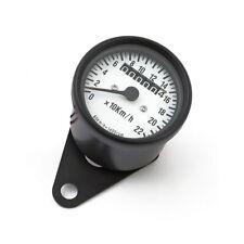 Mini Tachometer Schwarz Motorradtacho für Japan und US Motorrad Kilometerzähler