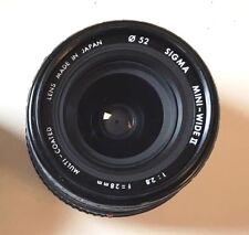 Sigma f/2.8 28mm Mini-Wide II Wide Angle Lens X370 X570 X700 XGM XD XG1 XG9 SRT