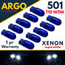 501 W5W 158 168 T10 XENON SUPER WHITE BRIGHT HID HIGH POWER SIDE LIGHT BULBS 12v