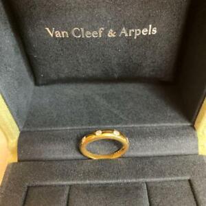 Van Cleef & Arpels Ring Diamond Yellow Gold Ladies Used Excellent