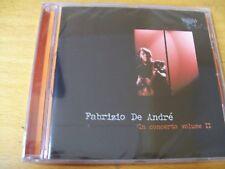 FABRIZIO DE ANDRè IN CONCERTO VOL 2  CD SIGILLATO 24 BIT REMASTERING
