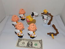 6 McDonalds Charlie Brown Figures Lot Peanut Snoopy Happy Meal toys figures