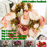 13 Heads Silk Peony Artificial Flowers Peony Wedding Bouquet Home Party Decor~~