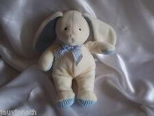 Doudou lapin blanc et bleu gris, polaire , Anna Club Plush