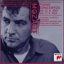 MOZART: Piano Concertos No. 15, K. 450 & No. 17, K. 453 (CD) - LEONARD BERNSTEIN