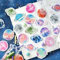 NEW 45pcs Planet Stickers Sealing Diary Label DIY Travel Sticker Scrapbooking
