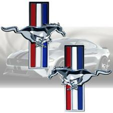 Running Horse Chrome Finish Pony Tri Bar Emblems Side Fender Badge for Mustang
