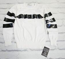 85% OFF: Toga Archives £500 Tape Motif B&W Fine Knit Sweater NWT Sz1/UK8