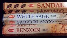 PURIFY Sandal White Sage Benzoin 60 HEM Incense Sticks 3 Scent Sampler Gift Set