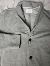 Billy Reid Men's Elliot Knit Shawl Collar Jacket Grey