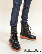 Super Dollfie Sd13 LUTS 1/3 BJD Boy Doll Shoes Flocked BOOTS Black