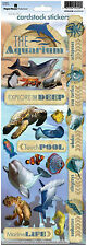 Paper House AQUARIUM Cardstock Stickers scrapbooking WHALE STINGRAY OCTOPUS