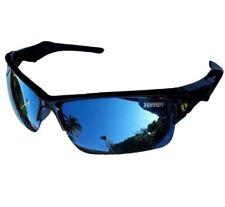 Sporty Car Logo Blue Lens Sunglasses Driving Sport Glasses - GREY