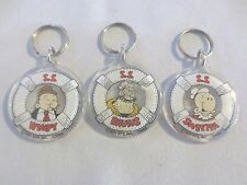 3 Popeye Characters Sweepea, Brutus, Wimpy Kechains
