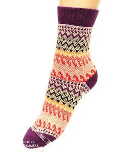 Rs Wool Ankle Socks Colorful Patterned, Sz. 35-38,