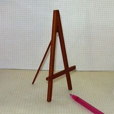 Miniature Smooth Walnut Finish Wooden Easel for DOLLHOUSE Art Studio 1:12 Scale