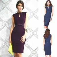 Sleeveless Slim Fit Midi Sexy Formal Evening Casual Cocktail Party Pencil Dress