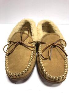 Minnetoka Men's Allen Brown Slippers Size 9M