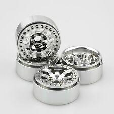"ALIENTAC Four(4) 1.9"" Wide 1"" Alloy Beadlock Wheel Rim for 1/10 RC Model #030"