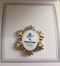 2022 BEIJING WINTER OLYMPIC GOLD LOGO SNOW PIN LE2022