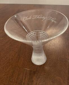 Rare Disneyland Disney Club 33 Thirty Three Diamond Martini Glass by Spiegelau
