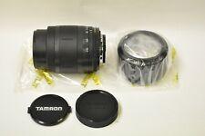 Tamron AF Nikon mount 70-210mm f4-5.6 zoom lens w/hood, caps & box. New old