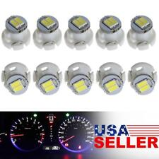 10Pcs White LED T3 Neo Wedge SMD LED Dash Climate Gauge Light Bulbs 8mm
