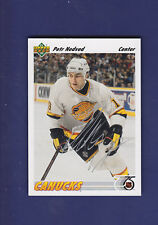 Petr Nedved *AUTOGRAPH* 1991-92 Upper Deck Hockey #227 Vancouver Canucks