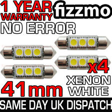 4x 41mm 3 Led Smd 264 C5w Canbus No Error Libre Blanco Luz Interior Festoon bombilla