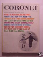 CORONET September 1961 OSCAR HAMMERSTEIN ROBERT FROST ISRAEL Classic Kids Books