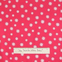 Floral Fabric - Pink Red White Daisy Toss OOP - Timeless Treasures Cotton YARD