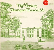 JB 163 THE SUTTON BAROQUE ENSEMBLE self titled uk beeches LP PS EX/EX