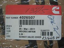 New Genuine Cummins ISX Valve Cover Gasket P/N 4026507