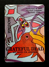 Grateful Dead Backstage Pass Animals Of The Rainforest Puzzle Piece OH 9/4/1991